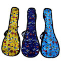 Cute cartoon 21 23 24 26 inch thin waterproof soprano concert tenor ukulele soft bag blue yellow case gig backpack creative gift