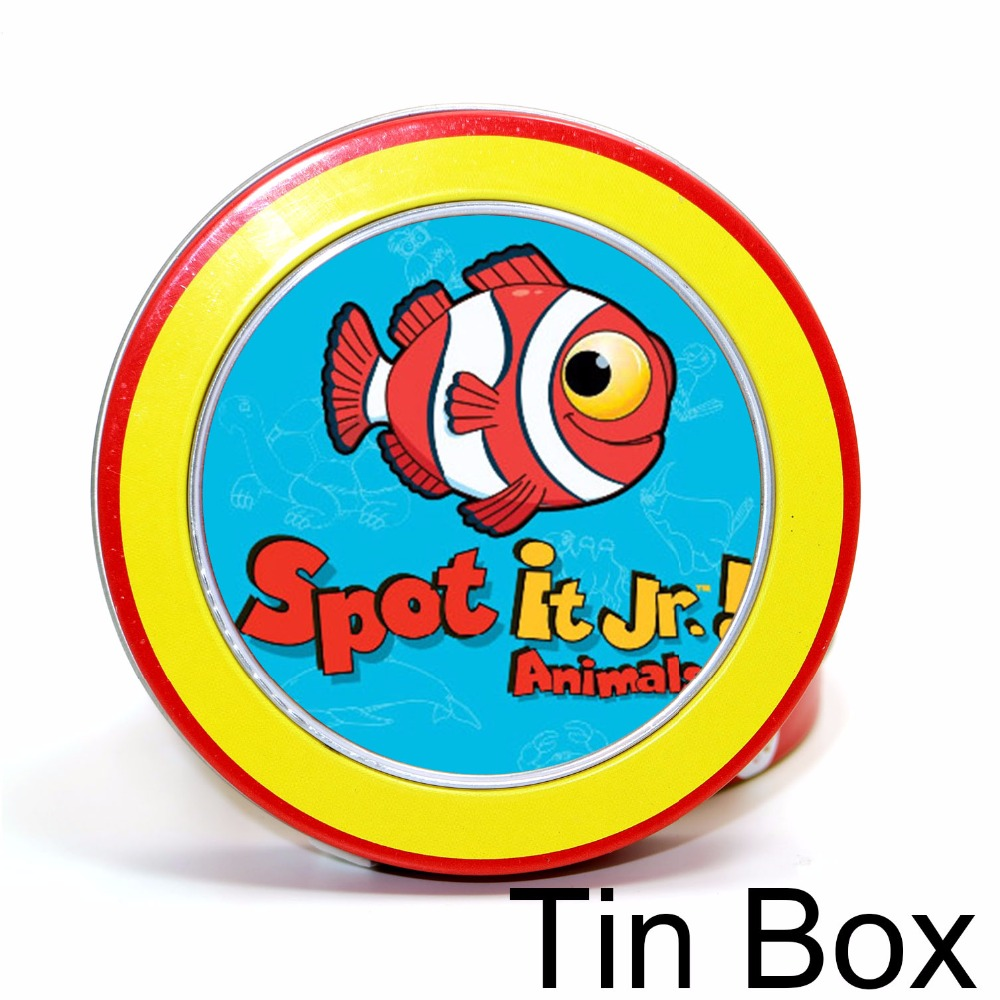4 Style Spot Card Games With Tin Box 80 Mm Hip Camping For The Family Gathering, Imported Paper Dobble It Board Game