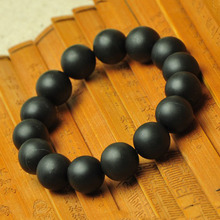 100% Natural Black jade bian bracelet/10mm-14mm bianshi stone bracelet care Classic bianchi