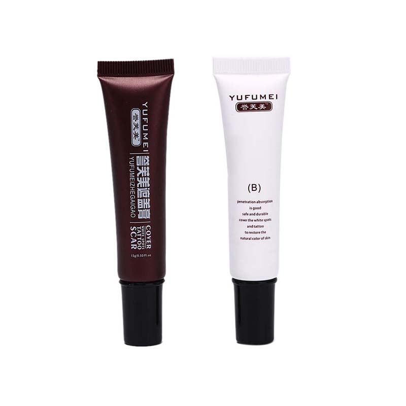 2pcs Concealer Cream Makeup Facial Cream Scars Freckles Black Eye Concealer Cream Make Up Cosmetic  Makeup Liquid Concealer