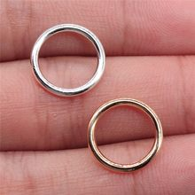 WYSIWYG 30pcs 14mm 2 Colors Shiny Silver & Rose Gold Color Circle Charm For Jewelry Making Diy Handmade Jewelry Accessories(China)