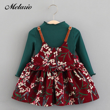 Melario Baby Dresses 2019 Spring Autumn Baby Girls Clothes Casual Toddler Daisy Printing Girls Party Dress Suit Newborn Dress