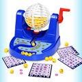 Bolas de Jogo de Bingo Conjunto completo Gaiola Cartões Marcadores Kit Placa Noite em Família Divertido Jogo Brinquedos de Desktop
