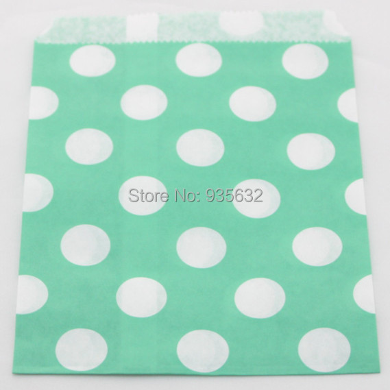 300pcs lot kraft polkadot treat bags cookie candy sacks product