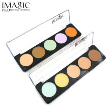 IMAGIC Women Concealer Beauty Makeup Foundation Cream Concealer Palette Face Contour Palette Highlight  5 Colors