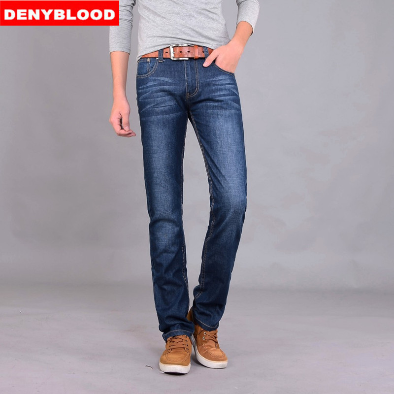 79d4a753794eb Plus Size 28 40 42 Darked Wash Jeans Mens Blue Black Cotton Denim Straight  Fit Classic Stylish Casual Pants Male Trousers 858-in Jeans from Men s  Clothing ...