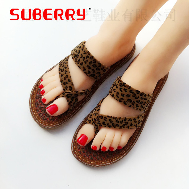 Vrouwen Sandalen Open Hiel Slippers Palm Summer Cloth Shoes Women's Sandals  Slippers Beach Flat Flip Flops