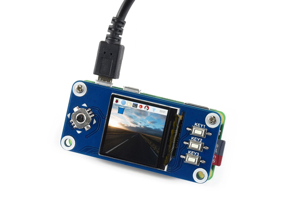 Waveshare 1.3inch IPS LCD <font><b>display</b></font> HAT for Raspberry Pi Zero/Zero W/Zero WH/2B/3B/3B+,<font><b>240x240</b></font> pixels,SPI interface image