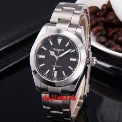 Parnis 40mm biała tarcza szafirowe szkło miyota mechanizm automatyczny mechanicalmens zegarek