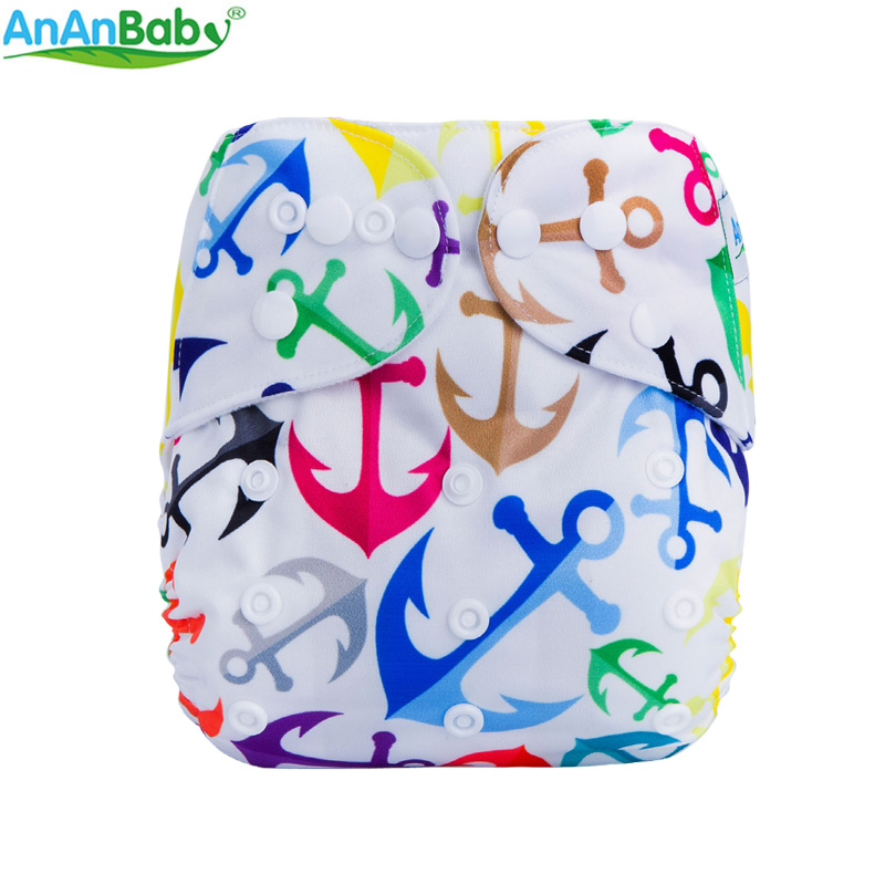 Image 2 - (5Pcs Per Lot)Ananbaby Pocket Cloth Diaper Breathable Nappy Adjustable Cotton Cloth Nappies Without Inserts-in Baby Nappies from Mother & Kids