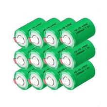 12pcs a lot!!! Full capacity small size battery ni-cd 4/5sc 1200mah battery 1.2v 4/5 sub c 1200mah nicd battery