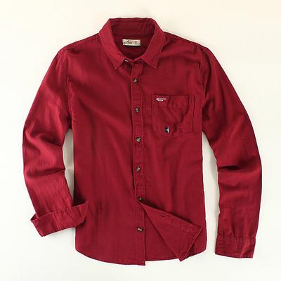 2016 Nueva Camisa de Los Hombres Camisa de Algodón Camisas de Los Hombres de Moda de la Marca Tejida Camisa Comercial de Negocios de Alta Calidad 3 Colores Promoción
