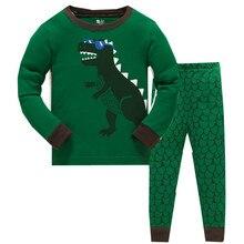 2019 Summer Children Animal Pyjamas Clothing Sets Boys Long Sleeve Tops+Pants Suit Baby Kids Pajamas Set for 3-8T цена и фото