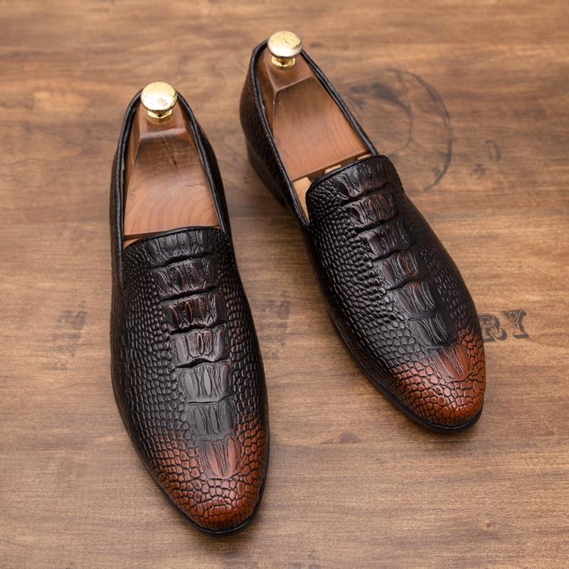Shoes Cimim Brand Formal Shoes Men High-end Custom Men Leather Dress Shoes Fashion Flock Big Size Loafers Men Casual Office Men Shoes