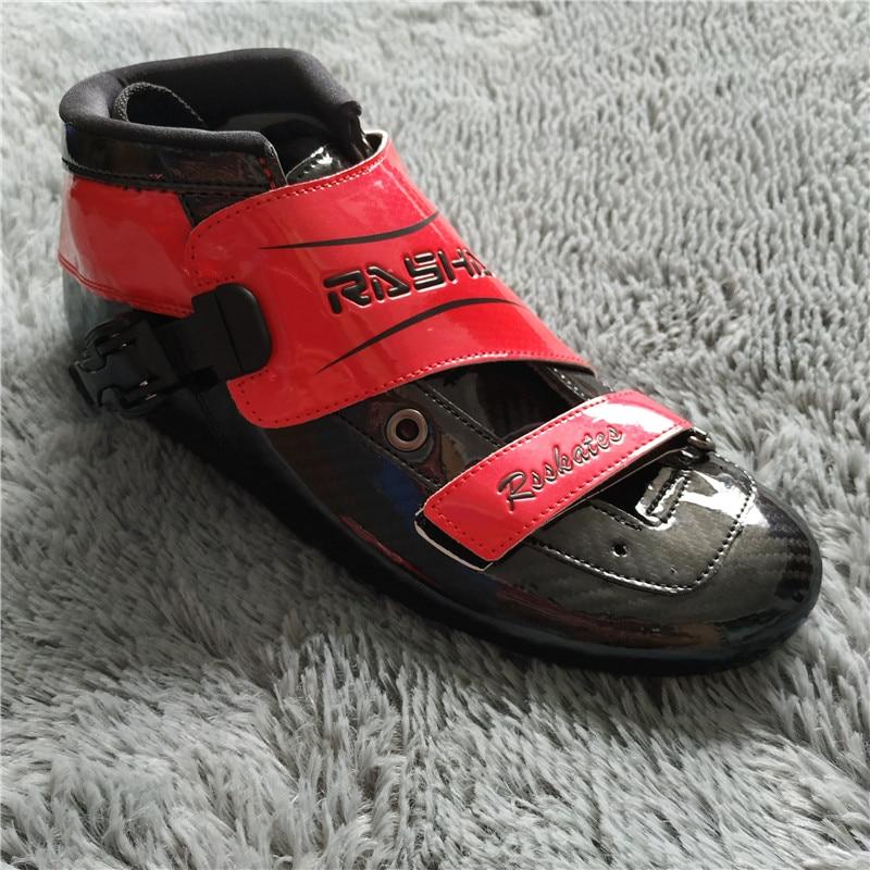 100% Original Rasha Inline Skates Boot Männer/frauen Handmade Glasfaser Racing Skate Boot Patinage De Vitesse