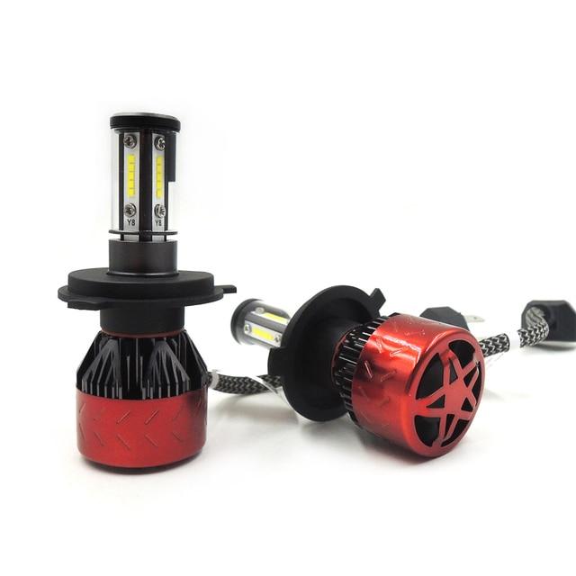 Y8 2pcs H4 H7 Led Headlight Bulbs Conversion Kit 9003 Hb2 Car