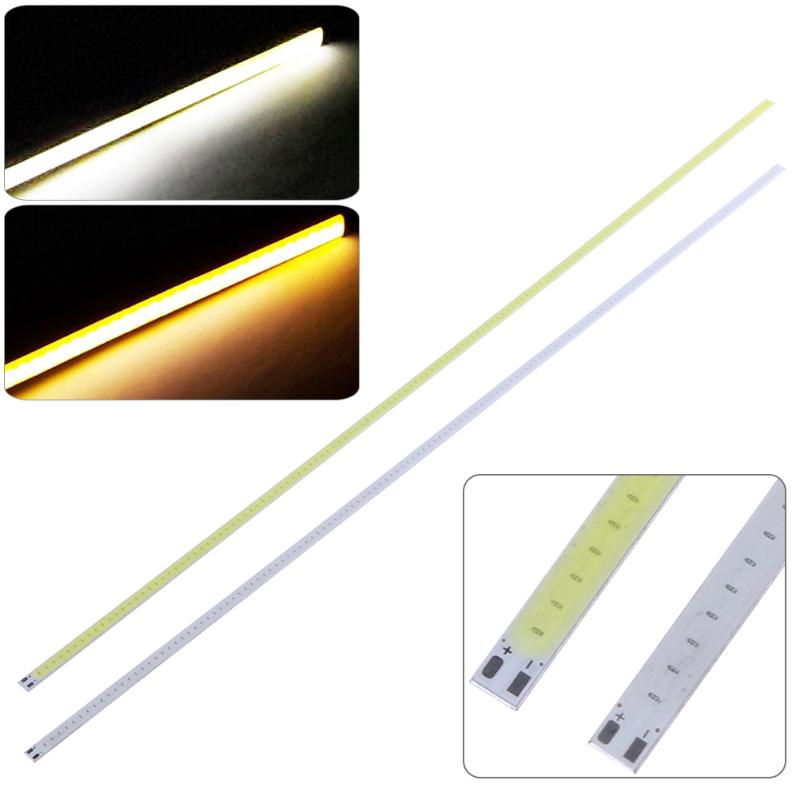 50CM 12V Universal COB LED Strip Ultra Bright 140 LED Strip Light For DIY Car Lamp Flexible Bar Strip