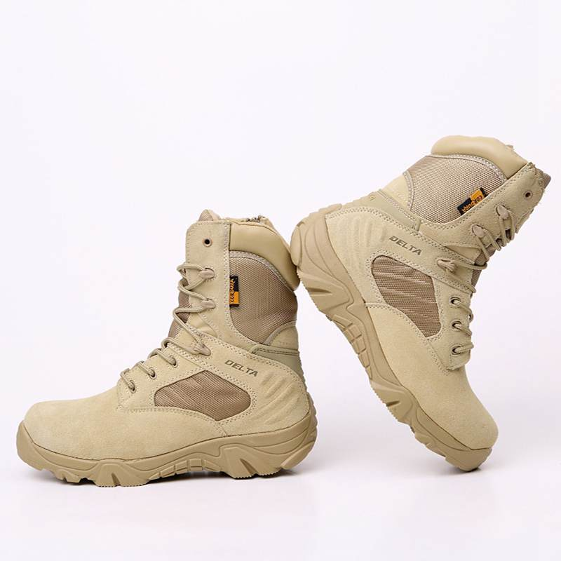 DELTA Men Hiking Shoes Military Desert Tactical Boot Army Genuine Leathe Breathable Hunting Climbing Work Shoes Ankle Boots 1