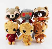2017NEW Brinquedos Peluches Anime Superhero Guardians Of the Galaxy 23 cm mini Plush Toys Dolls(China)