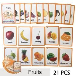 Детские английские учения текстовая карта карманный флэш обучения обучающие игрушки Монтессори слово настольная игра карты для детей
