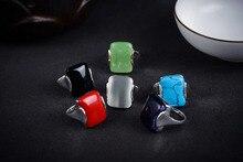 Luxury Jewelry Girls New Rings Natural semi-precious stones gem Genuine Green stone stone women beads same RING 6 7 8 9#