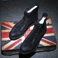 Alta Calidad de Los Hombres Brogue Botas Faux Suede Zapatos de Los Hombres de Moda Martin Botas de Invierno de Cuero zapatos Oxford de Los Hombres Zapatos