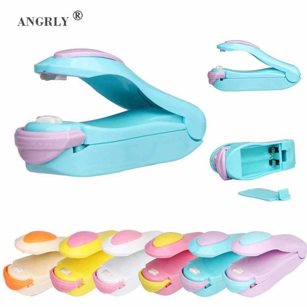 Portable Bag Clips Handheld Mini Electric Heat Sealing Machine Impulse Sealer Seal Packing Plastic Bag Work With Battery Supply
