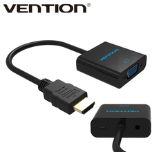 Vention HDMI to VGA Adapter, Digital to Analog Audio Converter M/F Video Cable For Xbox 360 PS3 PS4 PC Laptop TV Box Projector
