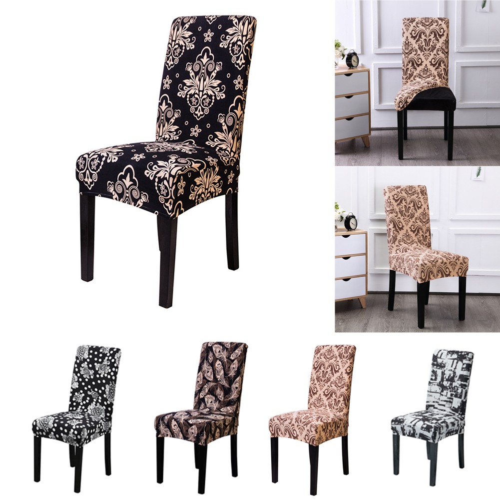 1PC Fashion Chair Slipcover Stretch Spandex Seat Cover Kitchen Removable Home