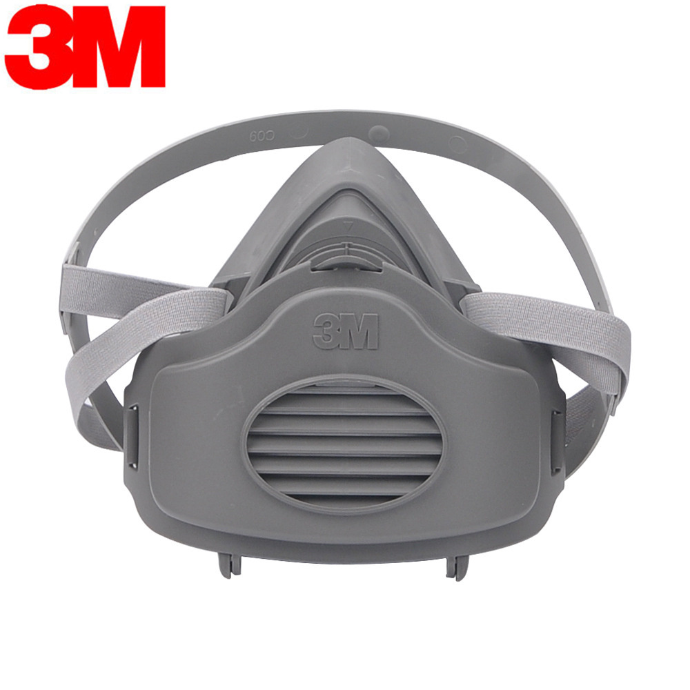 3M 3200 Filters Half Face Dust Gas Mask KN95 Respirator Safety Protective Mask Anti Dust Anti Organic Vapors PM2.5 Fog 11 in 1 suit 3m 6200 half face mask with 2091 industry paint spray work respirator mask anti dust respirator fliters