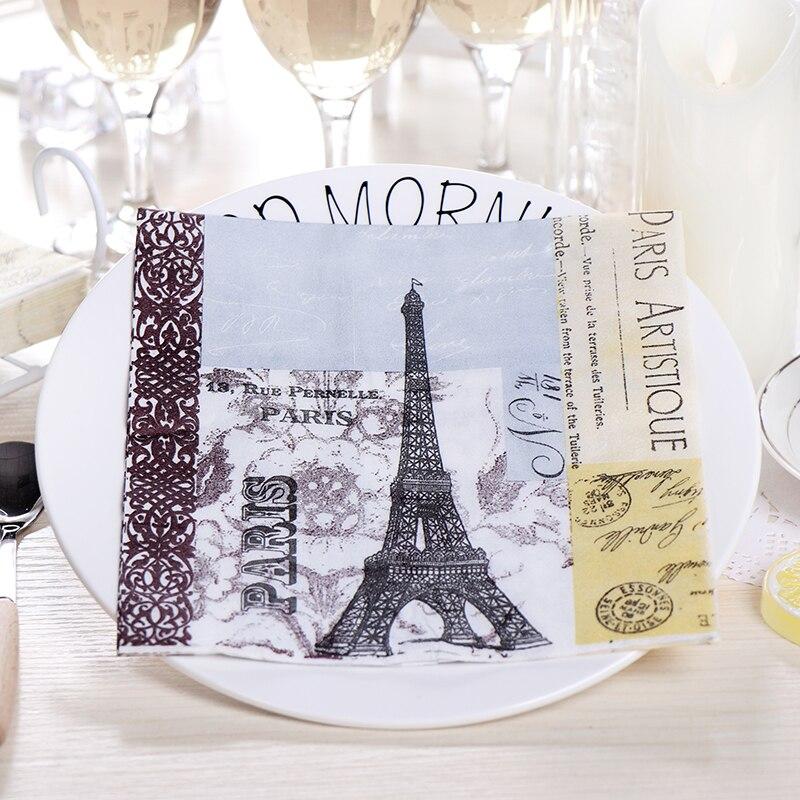 Parties Weddings Serviettes for Decoupage 2 Paper Napkins Paris