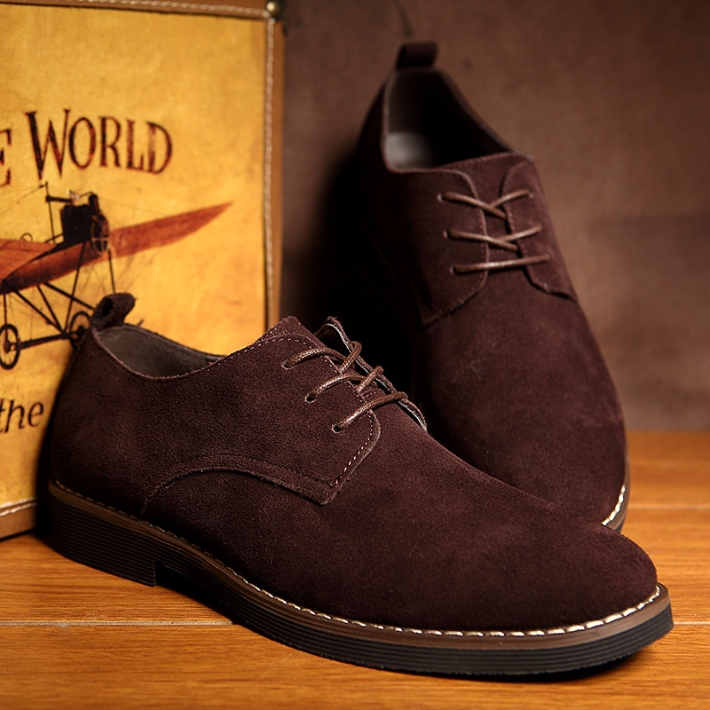 Plus Size 38-48 Oxford Men Shoes PU Suede Leather Spring Autumn Casual Men Leather Shoes Male Dress Shoes 1