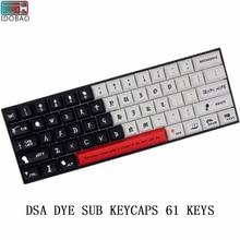 IDOBAO New Arrival DSA Pbt Dye Sub Keycaps 61 Keys For Cherry Mx Switch Mechanical Keyboard Teclado Inalambrico Clavier Gamer недорого