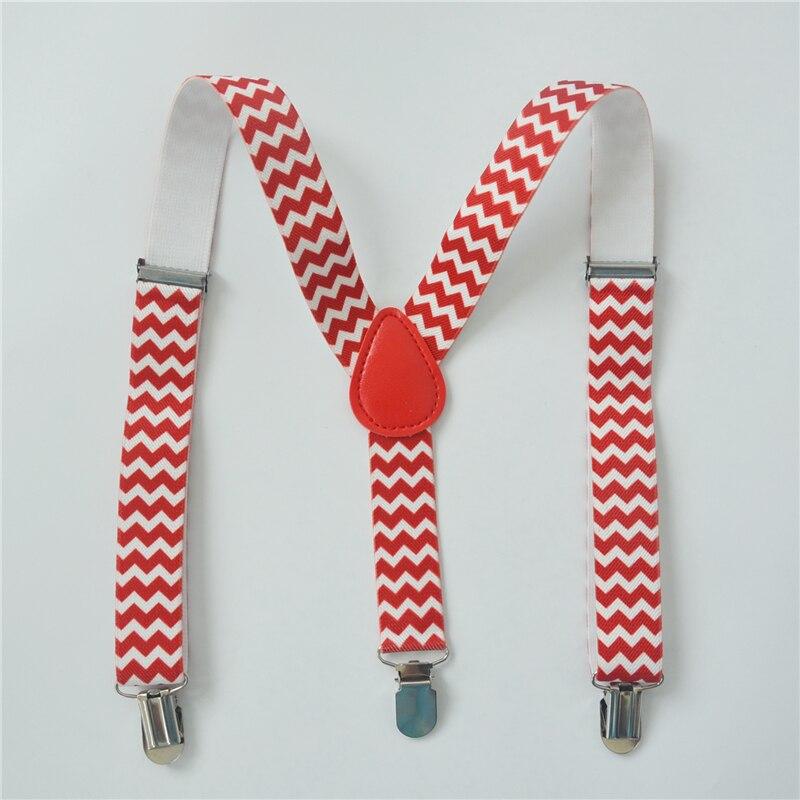 Children Suspenders Baby Boys And Girls Clip-on Y-Back Braces Elastic Wave Print Kids Suspenders