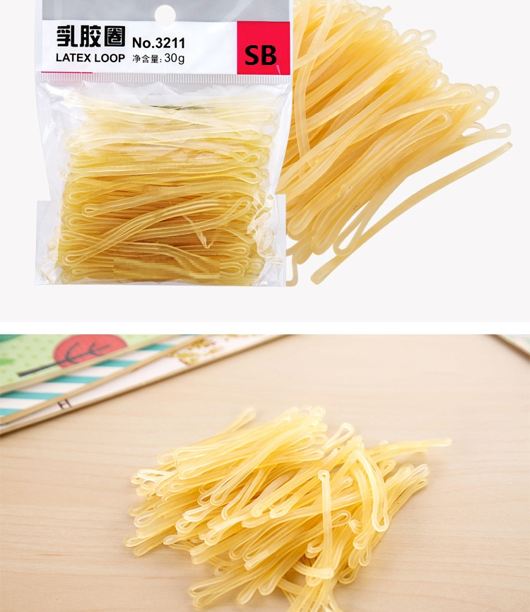 Latex Loop 2 Pack * 30g Transparent Yellow Rubber Bands Strong Elastic Bands Hair Loop School Office Stationary