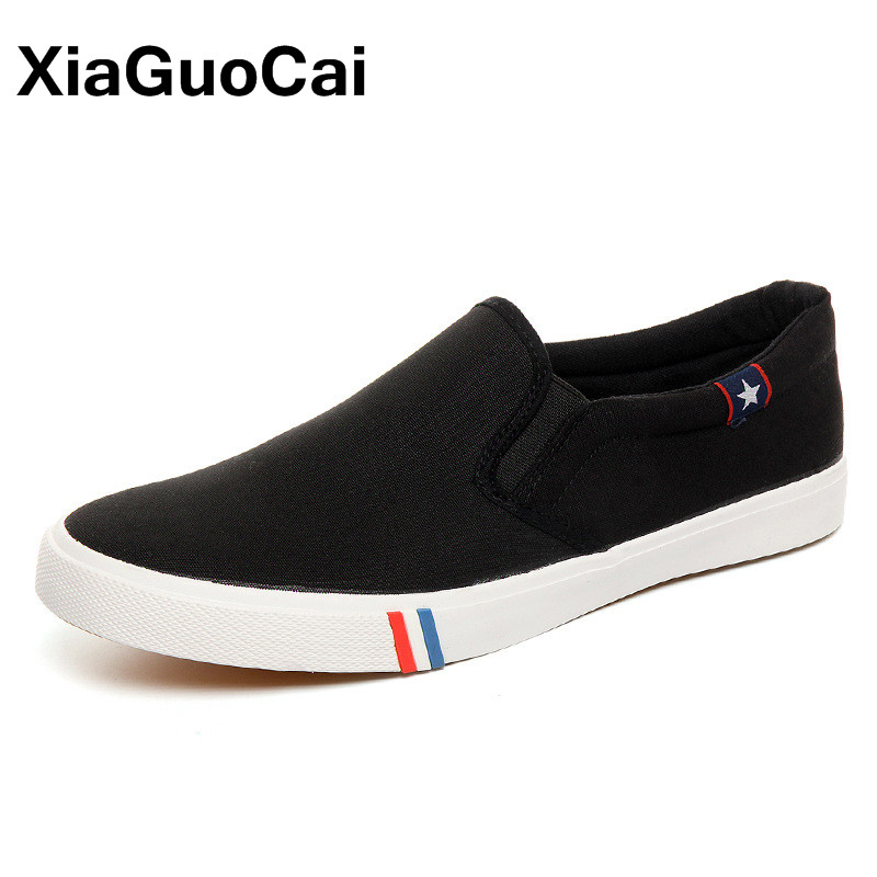 Spring Autumn Men Loafers Breathable Men's Casual Shoes Slip-On Solid Male Canvas Shoes Fashion Trend Flats Footwear gram epos 2018 male spring summer trend casual leisure pu leather shoes breathable for man footwear loafers men s slip on flats