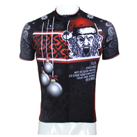 Evil Santa Claus Men Long Short Sleeve Cycling Jersey Fashion Black Bicycle Top Polyester Cycling