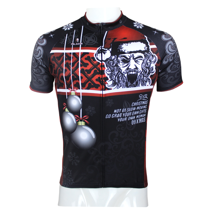 New Evil Santa Claus Men Cycling Jersey Black Ciclismo Ropa Polyester Bike  Clothing Bomb Cycling Clothes Size S To 6XL-in Cycling Jerseys from Sports  ... 856d85cbe