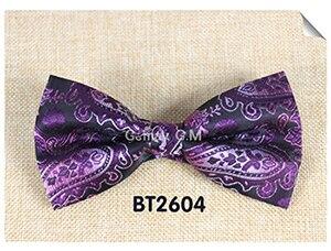 Мода кешью цветы Классический Боути для человека галстуки Регулируемая свадьба лук Галстуки полиэстер человека Bowties - Цвет: BT2604