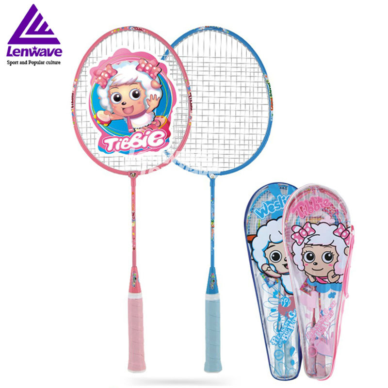 2018lenwave  1pair racket badminton training children badminton racket