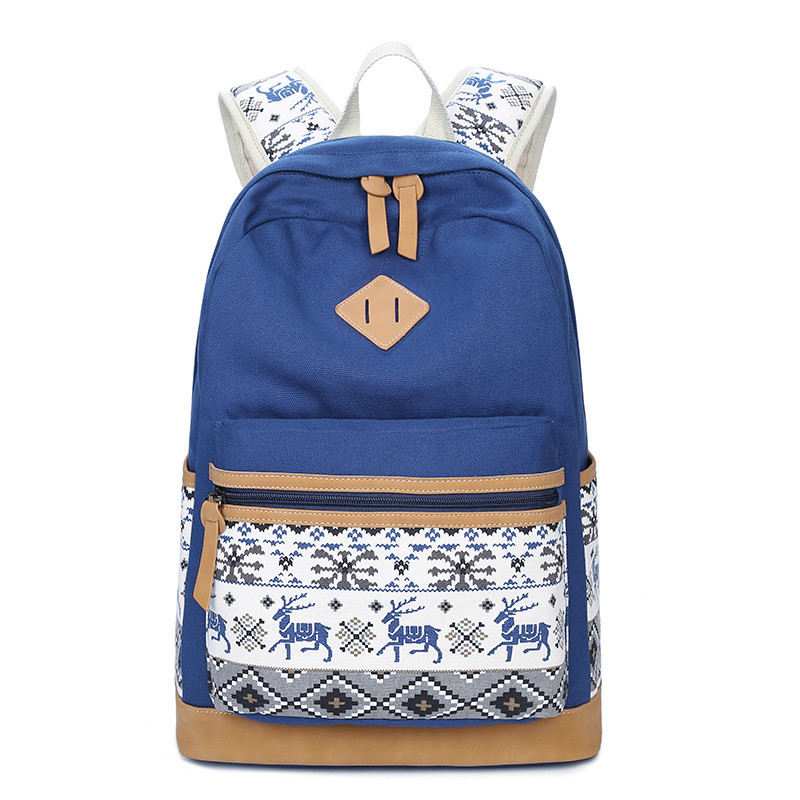M038 Women Backpack for School Teenagers Girls Vintage Stylish School Bag Ladies Canvas Backpack Female Back Pack High Quality