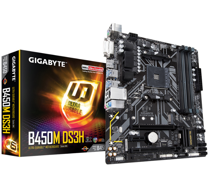 Original NEW GA-B450M DS3H Motherboard for Gigabyte B450M DS3H B450 AM4 DDR4 Supports R3 R5 R7 1700 2600 2700