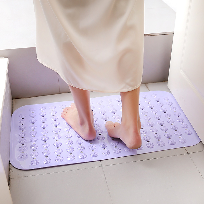 Bathroom non slip pad bath shower large size with suction cup massage pad toilet sanitary spacer floor mat bath mats bathroom