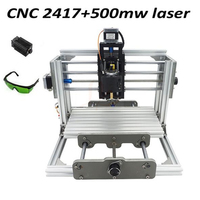 Free Tax To Russia Disassembled Pack Mini CNC 2417 500mw Laser CNC Engraving Machine