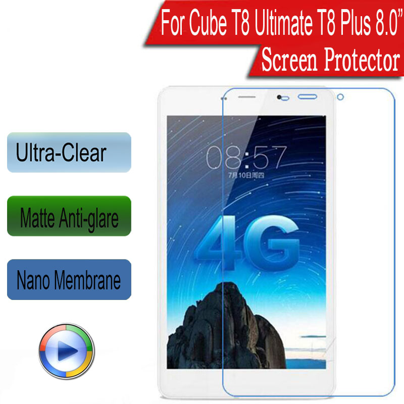 Tablet Accessories 2 Pcs Clear Soft Explosion-proof Film Protector Sticker For Cube T8 Ultimate T8 Plus 8.0 Screen Protector Without Return