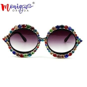 نظارات المرأة العلامة التجارية مصمم المعتاد مزيج حجر القط العين النظارات الفاخرة خمر للمرأة الأزياء ظلال