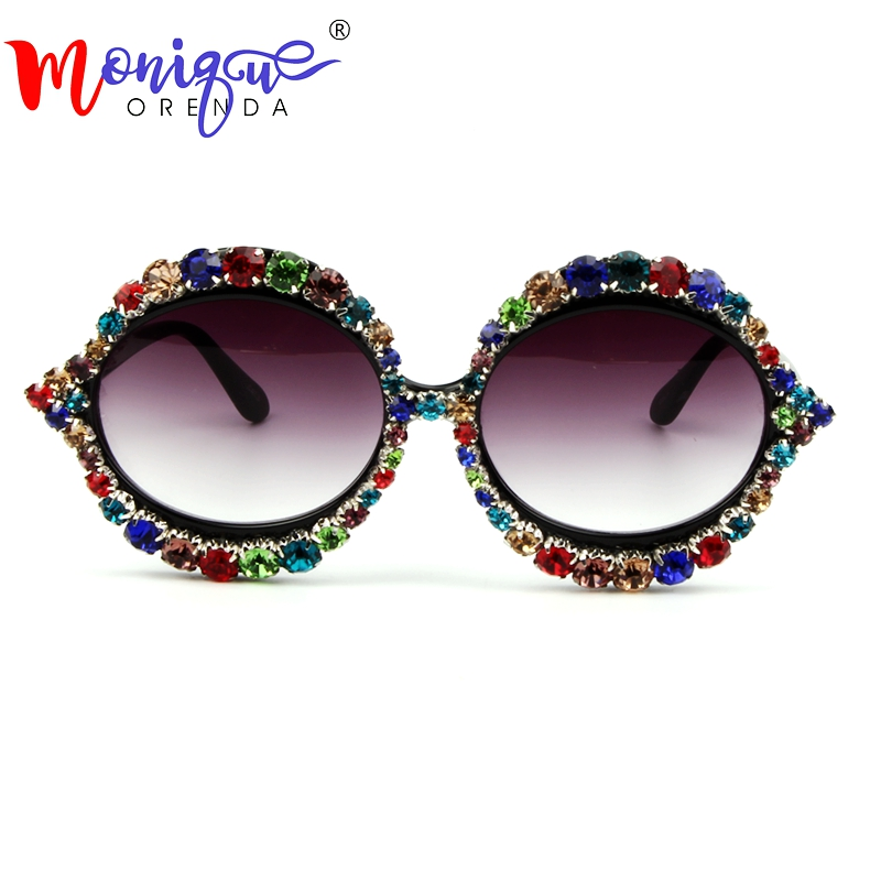 Sunglasses Women Brand Designer Oversize Cat Eye Sunglasses Luxury Mix Rhinestone Vintage Sunglasses for Woman Fashion Shades