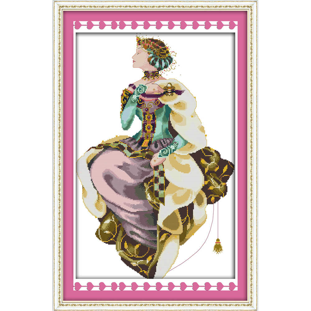 Everlasting love Christmas Autumn queen Ecological cotton Chinese cross stitch kits counted stamped 14 CT  11CT  sales promotion