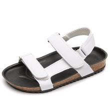 SKHEK Children Sandals Summer Shoes Microfiber Quality Boys and Girls Beach Cowhide Causal Kids 2-10 Year Old Size