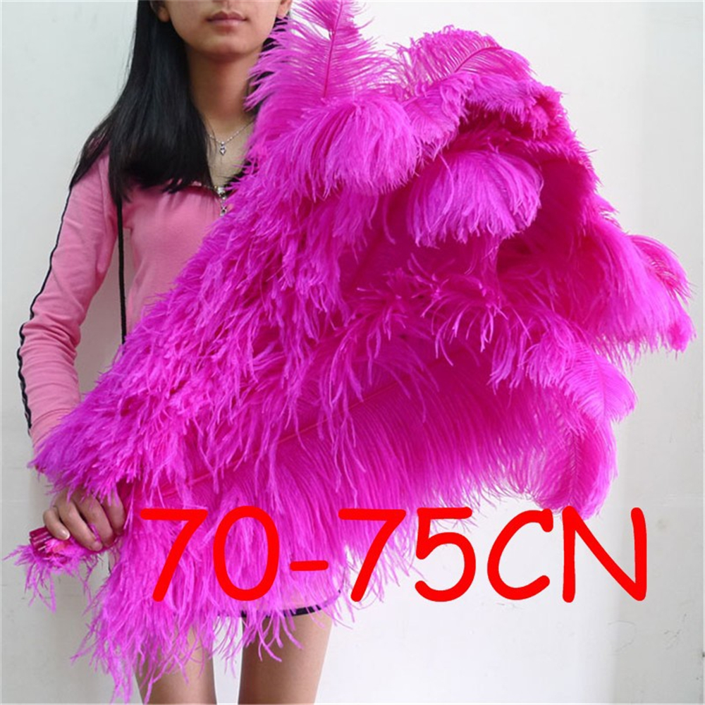 high quality 20pcs 28-30inch70-75cm Hot pink Fluffy Ostrich Feathers jewelry accessories wedding road lead flower DIY costumes